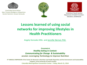 Lessons learned of using social networks for improving lifestyles in Health Practitioners