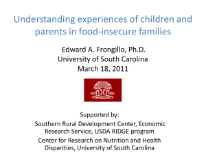 Understanding experiences of children and parents in food-insecure families