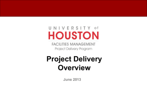 Project Delivery Overview June 2013