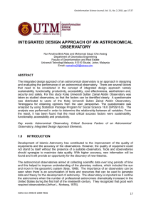 INTEGRATED DESIGN APPROACH OF AN ASTRONOMICAL OBSERVATORY