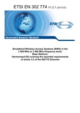 ETSI EN 302 774 V1.2.1