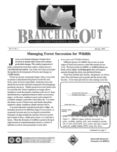 """I J Managing Forest Succession for  Wildlife 1"
