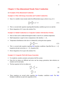 Chapter 2: One-dimensional Steady State Conduction