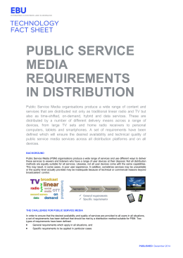 PUBLIC SERVICE MEDIA REQUIREMENTS IN DISTRIBUTION