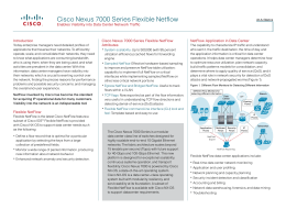 Cisco Nexus 7000 Series Flexible Netflow