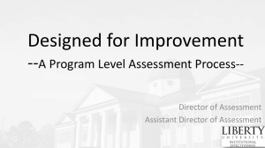 Designed for Improvement -- A Program Level Assessment Process-- Director of Assessment
