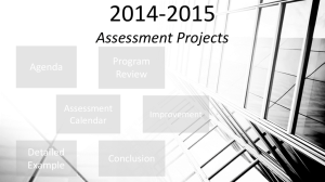 2014-2015 Assessment Projects Program Agenda