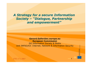A Strategy for a secure Information Society – ""