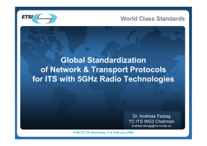 Global Standardization of Network & Transport Protocols