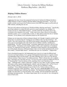 Liberty University – Institute for Military Resilience Helping Children Bounce