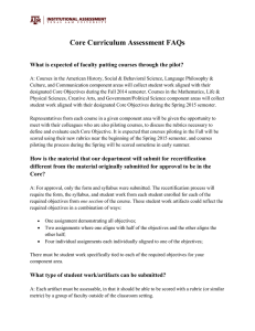 Core Curriculum Assessment FAQs