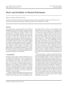 Meter and Periodicity in Musical Performance