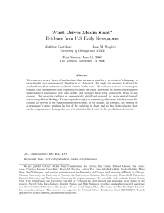 What Drives Media Slant? Evidence from U.S. Daily Newspapers