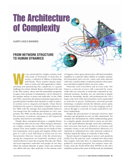 W The Architecture of Complexity FROM NETWORK STRUCTURE