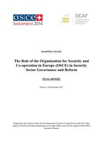 The Role of the Organization for Security and