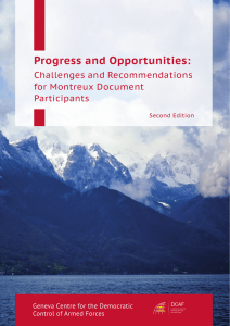 Progress and Opportunities: Challenges and Recommendations for Montreux Document Participants