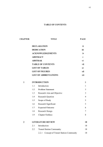 TABLE OF CONTENTS DECLARATION ii
