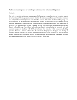 Prediction simulation process for controlling in maintenance time in the... Abstract :