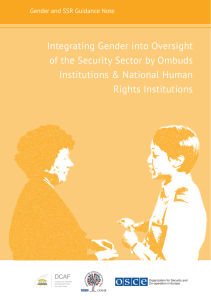 Integrating Gender into Oversight of the Security Sector by Ombuds Rights Institutions