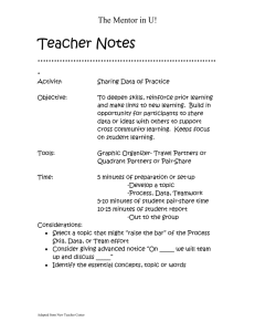 Teacher Notes ................................................................. . The Mentor in U!