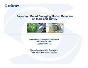 Paper and Board Emerging Market Overview on India and Turkey