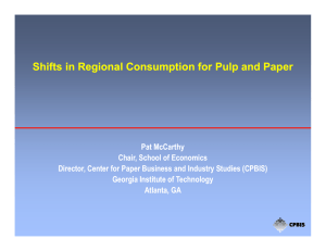 Shifts in Regional Consumption for Pulp and Paper Paper
