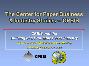 The Center for Paper Business & Industry Studies -- CPBIS