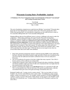 Wisconsin Grazing Dairy Profitability Analysis