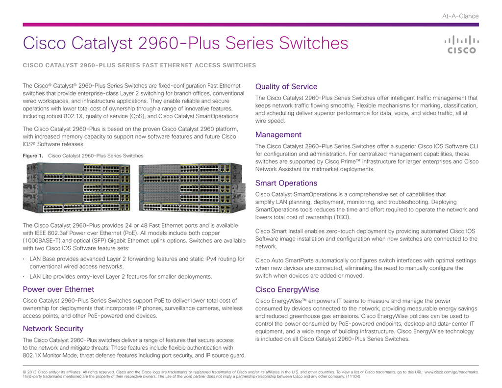 Cisco Catalyst 2960-Plus Series Switches Quality of Service At-A-Glance