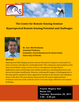 The Center for Remote Sensing Seminar