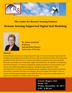 Remote Sensing Supported Digital Soil Modeling  Abstract