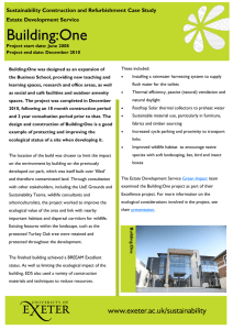 Building:One  Sustainability Construction and Refurbishment Case Study Estate Development Service
