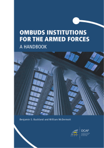 OMBUDS INSTITUTIONS FOR THE ARMED FORCES A HANDBOOK DCAF