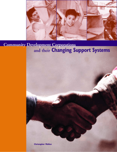 Changing Support Systems Community Development Corporations and their Christopher Walker