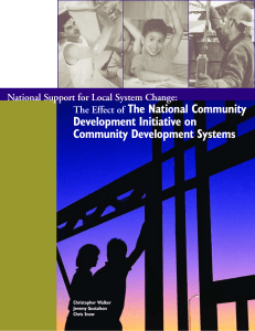 The National Community Development Initiative on Community Development Systems