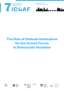 The Role of Ombuds Institutions for the Armed Forces in Democratic Societies