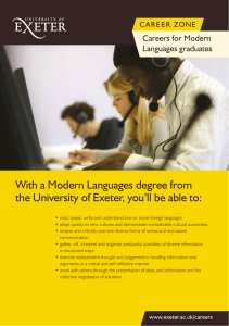 With a Modern Languages degree from Careers for Modern Languages graduates