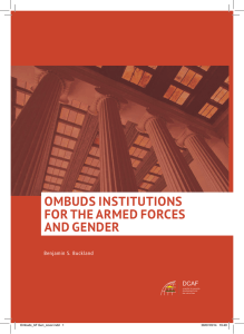 OMBUDS INSTITUTIONS FOR THE ARMED FORCES AND GENDER DCAF