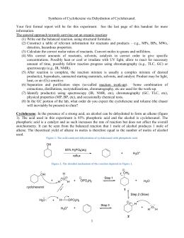 dehydration of cyclohexanol mechanism