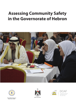 Assessing Community Safety in the Governorate of Hebron a centre for security,