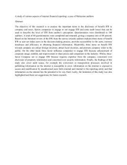A study of various aspects of internet financial reporting: a... Abstract: The  objective  of  this  research ...