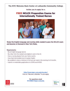 FREE NCLEX Preparation Course for Internationally Trained Nurses