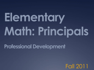 Elementary Principal CCSS Math Training Power Point