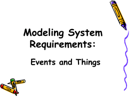 Modeling System Requirements: Events and Things