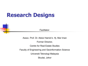 030  Research Designs