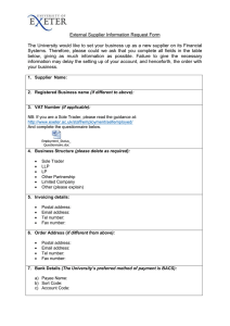 External Supplier Information Request Form