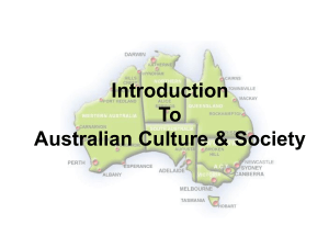 Introduction To Australian Culture & Society