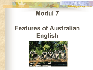 Modul 7 Features of Australian English