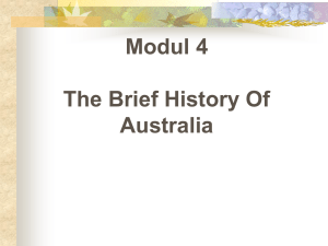Modul 4 The Brief History Of Australia