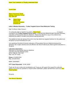 5. TruSeq Cancer Panel Letter of Medical Necessity Template